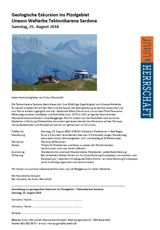 Geologische Exkursion Pizo 2018