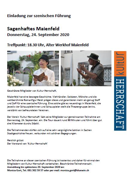 Einladung Sagenhaftes Maienfeld 2020